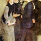 Leaving the Conservatoire 1877 music conservatory people canvas art print Pierre-Auguste Renoir