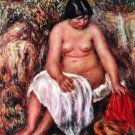 Woman with Straw canvas art print by Pierre-Auguste Renoir