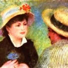 The Rowers Les Canotiers 1881 detail woman man canvas art print by Pierre-Auguste Renoir