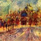 Marcus place in Venice cityscape palace canvas art print by Pierre-Auguste Renoir