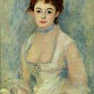 Madame Henriot woman portrait canvas art print by Pierre-Auguste Renoir