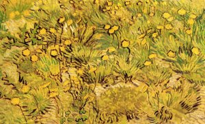A Field of Yellow Flowers landscape canvas art print by Vincent van Gogh