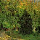 A Lane in the Public Garden at Arles people landscape canvas art print by Vincent van Gogh