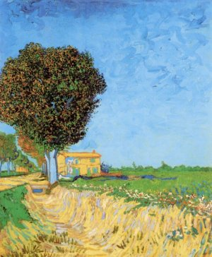 A Lane near Arles landscape canvas art print by Vincent van Gogh