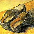 A Pair of Leather Clogs shoes canvas art print by Vincent van Gogh
