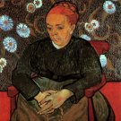 La Berceuse Augustine Roulin IV woman portrait canvas art print by Vincent van Gogh