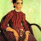 La Mousme Sitting woman portrait canvas art print by Vincent van Gogh