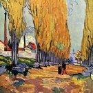 Les Alyscamps landscape canvas art print by Vincent van Gogh