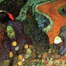 Memory of the Garden at Etten woman landscape canvas art print by Vincent van Gogh
