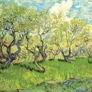 Orchard in Blossom II landscape canvas art print by Vincent van Gogh