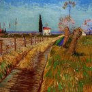 Path Through a Field with Willows landscape canvas art print by Vincent van Gogh