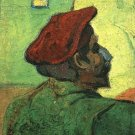 Paul Gauguin Man in a Red Beret portrait canvas art print by Vincent van Gogh