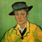Portrait of Armand Roulin man canvas art print by Vincent van Gogh