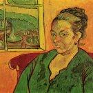 Portrait of Madame Augustine Roulin woman canvas art print by Vincent van Gogh