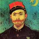 Portrait of Milliet Second Lieutenant of the Zouaves man canvas art print by Vincent van Gogh