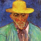 Portrait of Patience Escalier Shepherd in Provence man canvas art print by Vincent van Gogh