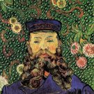 Portrait of the Postman Joseph Roulin III man canvas art print by Vincent van Gogh