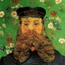 Portrait of the Postman Joseph Roulin IV man canvas art print by Vincent van Gogh