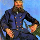 Portrait of the Postman Joseph Roulin V man canvas art print by Vincent van Gogh