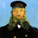 Portrait of the Postman Joseph Roulin VI man canvas art print by Vincent van Gogh