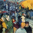 Spectators in the Arena at Arles people canvas art print by Vincent van Gogh