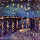 Starry Night Over the Rhone water landscape canvas art print by Vincent van Gogh