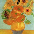 Still Life Vase Twelve Sunflowers canvas art print Vincent van Gogh