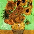 Still Life Vase Twelve Sunflowers II canvas art print Vincent van Gogh