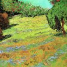 Sunny Lawn in a Public Park landscape canvas art print by Vincent van Gogh