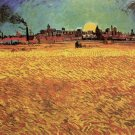 Sunset Wheat Fields Near Arles landscape canvas art print by Vincent van Gogh