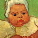 The Baby Marcelle Roulin portrait canvas art print by Vincent van Gogh
