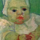 The Baby Marcelle Roulin III portrait canvas art print by Vincent van Gogh