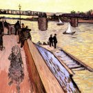 The Bridge at Trinquetaille water landscape canvas art print by Vincent van Gogh