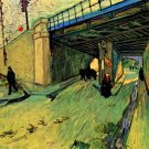 The Railway Bridge over Avenue Montmajour Arles landscape canvas art print by Vincent van Gogh