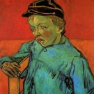 The Schoolboy Camille Roulin child portrait canvas art print by Vincent van Gogh