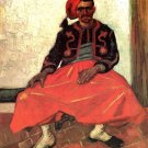 The Seated Zouave man portrait canvas art print by Vincent van Gogh