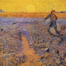 The Sower IV man landscape canvas art print by Vincent van Gogh