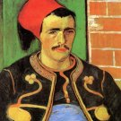 The Zouave Half Length man portrait canvas art print by Vincent van Gogh