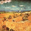 Wheat Stacks with Reaper landscape canvas art print by van Gogh