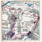 Union Work Erected at Centreville Virginia Civil War map by Sneden