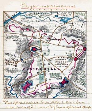 Work Erected at Centreville Virginia Civil War map by Sneden