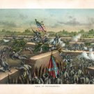 Battle Fall of Petersburg 1865 Civil War canvas art print by Kurz and Allison