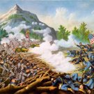 Battle of Kenesaw Mountain 1864 Civil War canvas art print by Kurz and Allison