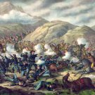 Battle of the Big Horn Civil War canvas art print by Kurz and Allison