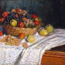 Apples and Grapes ca 1870 still life canvas art print by Claude Monet