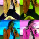 Michael Jackson 4-image mosaic canvas pop art print
