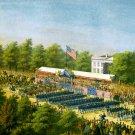 Grand Review Washington Potomac Army Civil War canvas art print Sachse