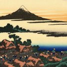 Dawn at Isawa Kai Province Japanese canvas art print by Hokusai