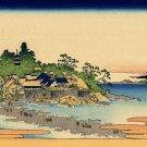 Enoshima Sagami Province Japanese canvas art print Katsushika Hokusai