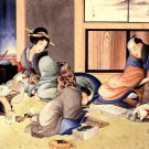 Merchant Making up Account Japanese canvas art print by Hokusai